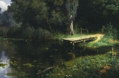 Поленов В. Д. Заросший пруд