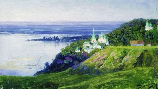 Поленов В. Д. Монастырь над рекой