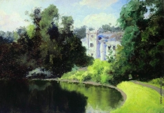 Поленов В. Д. Пруд в парке. Ольшанка
