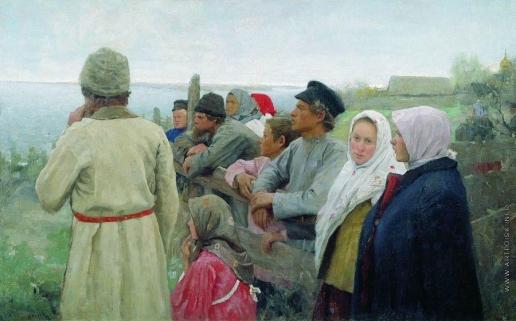 Попов Л. В. Луга затопило