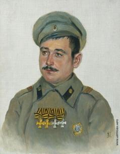 Поярков В. А. Портрет Глумова, ст. п. лейб-гвардии Финлянского полка. 1916-