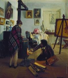 Прянишников И. М. В мастерской художника