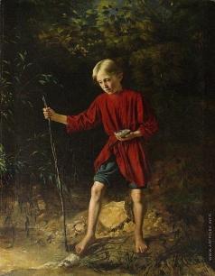 Пукирев В. В. Мальчик с птичьим гнездом