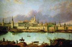 Рабус К. И. Вид Москвы времен Петра