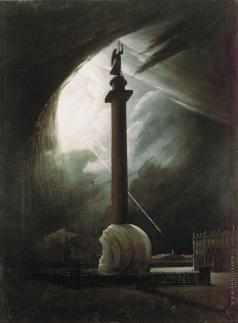 Раев В. Е. Александровская колонна во время грозы