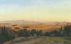 Раев В. Е. Вид Рима с горы Марио