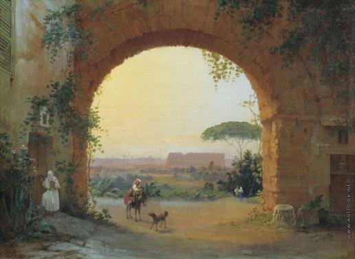 Раев В. Е. Итальянский пейзаж в окрестностях Рима