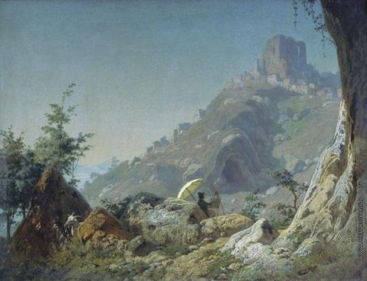 Реймерс И. И. Вид в Черваро близ Рима