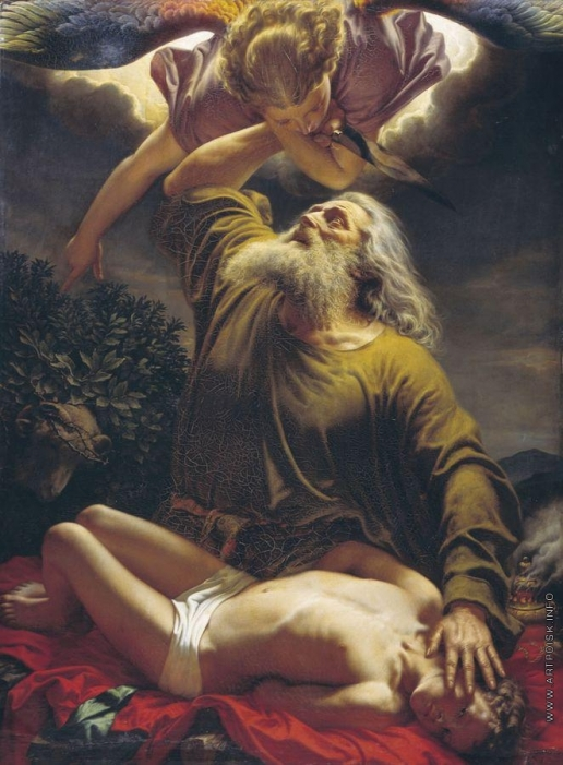 Рейтерн Е. Р. Авраам приносит Исаака в жертву