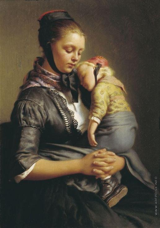 Рейтерн Е. Р. Крестьянка из Вилленсхаузена с уснувшим ребенком на руках