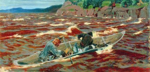 Рылов А. А. В лодке (Смельчаки)