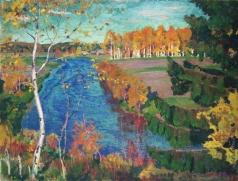 Рылов А. А. Осень на реке Тосне