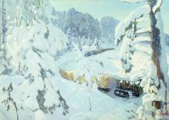 Рылов А. А. Трактор на лесных работах