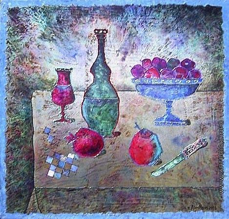 Абезгауз Е. З. Натюрморт с вазой