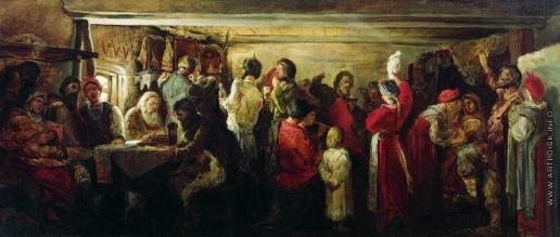 Рябушкин А. П. Крестьянская свадьба в Тамбовской губернии