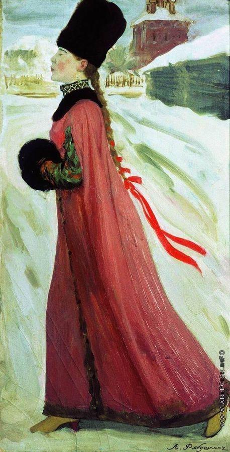 Рябушкин А. П. Московская девушка XVII века (В праздничный день)