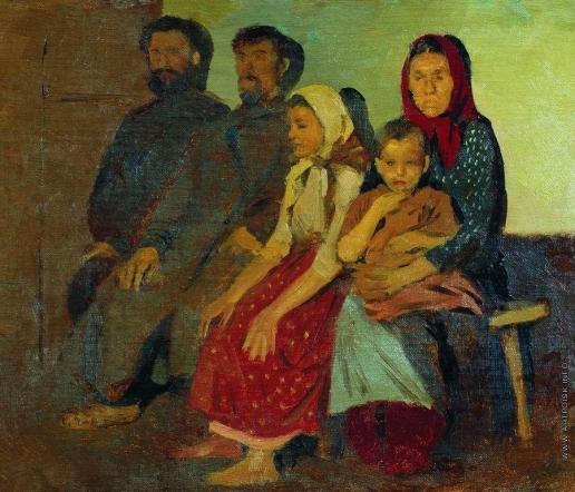Рябушкин А. П. Ожидание новобрачных от венца в Новгородской губернии