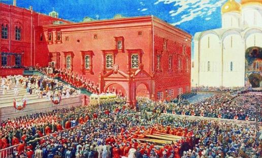 Рябушкин А. П. Поклон с красного крыльца