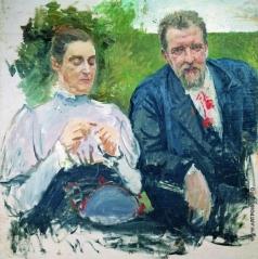 Рябушкин А. П. Портрет И.Ф,Тюменева с женой