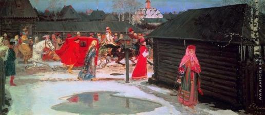 Рябушкин А. П. Свадебный поезд в Москве (XVII столетие)