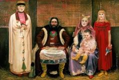 Рябушкин А. П. Семья купца в XVII веке