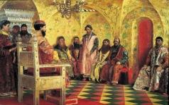 Рябушкин А. П. Сидение царя Михаила Фёдоровича с боярами в его государевой комнате