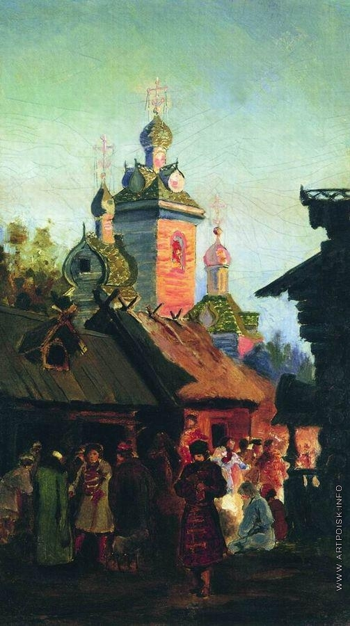 Рябушкин А. П. Улица старой Москвы