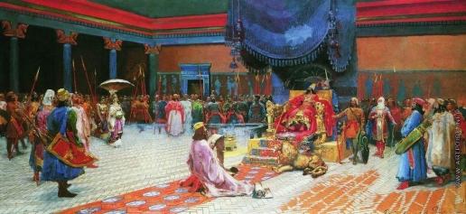 Рябушкин А. П. Эсфирь перед Артаксерксом