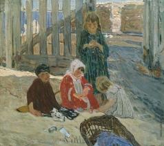 Савинов А. И. Дети, играющие в песке