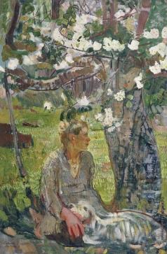 Савинов А. И. Крестьянский мальчик под яблоней