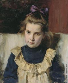 Савинский В. Е. Портрет Татьяны Васильевны Савинской. 1904-