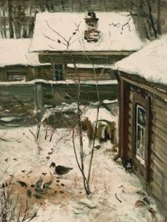 Саврасов А. К. Дворик. Зима
