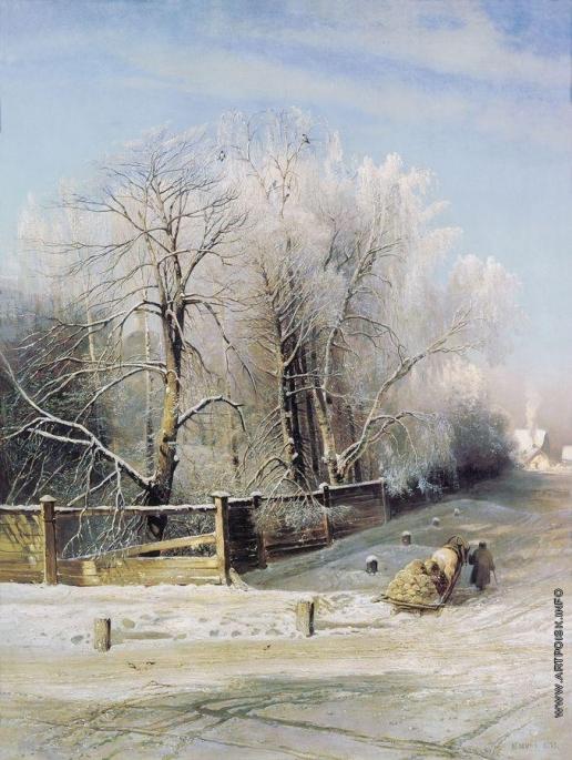 Саврасов А. К. Зимний пейзаж. Москва