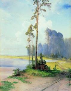 Саврасов А. К. Летний пейзаж. Сосны