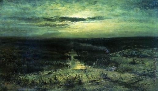 Саврасов А. К. Лунная ночь. Болото