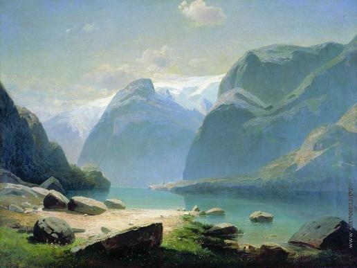 Саврасов А. К. Озеро в горах Швейцарии