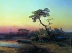 Саврасов А. К. Пейзаж с сосной