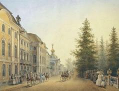 Садовников В. С. Придворный выезд от главного подъезда Большого дворца в Петергофе