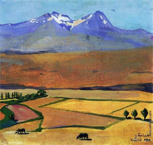 Сарьян М. С. Гора Арагац летом