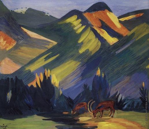 Сарьян М. С. Утро. Зеленые горы