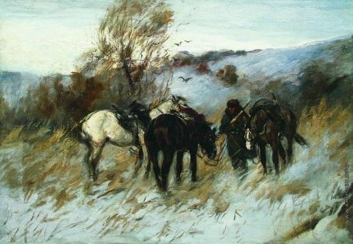 Сверчков Н. Е. В бурю зимой
