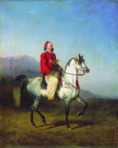 Сверчков Н. Е. Всадник в турецком костюме. Арабская порода