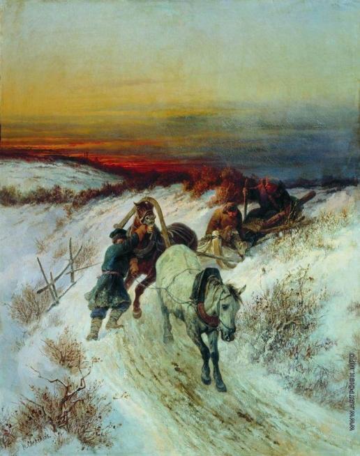 Сверчков Н. Е. Зимняя дорога. Возвращение с охоты