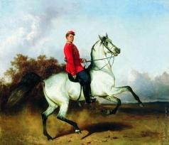 Сверчков Н. Е. Лейб-гусар на коне (Портрет К.А.Дружинина)