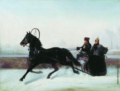 Сверчков Н. Е. Николай I в санях