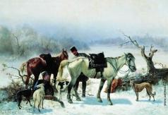 Сверчков Н. Е. Отдых охотника