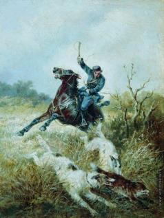 Сверчков Н. Е. Охота с борзыми