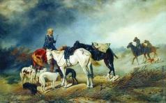 Сверчков Н. Е. Охотники в степи