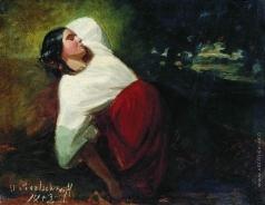 Сверчков Н. Е. Спящая девушка
