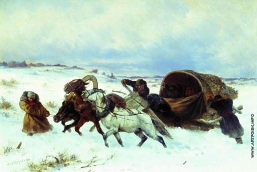 Сверчков Н. Е. Тройка зимой
